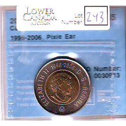 2 Dollars 2006L, CCCS MS-65; 1996-2006, Pixie Ear.