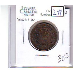 New Brunswick 1 Cent 1864, EF-40; Short 6.