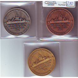 Jerry Remick Medals; 1992 Canadian Numismatic Association Convention in Montreal, copper plated, sil