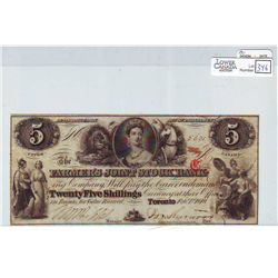 1849 Farmer's Joint Stock Bank; 5 Dollars 14-02-06, VF-20 but looks AU, serial 5621.