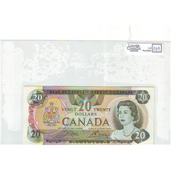1979 Bank of Canada; 20 Dollars BC-54bA Almost Uncirculated Replacement 51005728138 Litho Back.