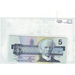 1986 Bank of Canada; 5 Dollars BC-56a Choice Uncirculated END2280832-833-834 Yellow BPN. Lot of 3 Co