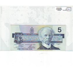 1986 Bank of Canada; 5 Dollars BC-56a-i Uncirculated EOK2031448 Blue BPN.
