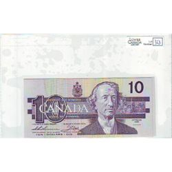 1989 Bank of Canada; 10 Dollars BC-57a Uncirculated ATM1569398-399. Lot of 2 consecutive notes.