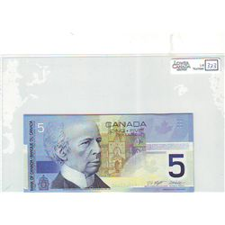 2001 Bank of Canada; 5 Dollars BC-62a Gem Uncirculated ANW2431463-464-465-466. Lot of 4 consecutive