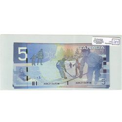 2006 Bank of Canada; 5 Dollars BC-67aA Gem Uncirculated AOK2156956-957-958-959-960 insert Range 1.96