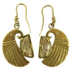 18KT Gold Earrings - White Buffalo (Mike Perez)