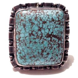 Square Cut Turquoise Ring