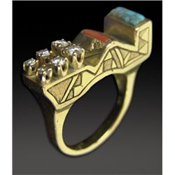 18KT Gold Ring - White Buffalo (Mike Perez)