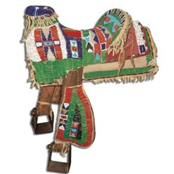 Pony Beaded Child's Saddle
