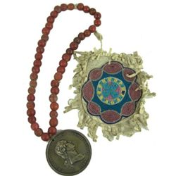Santee Beaded Bag & Peace Medal