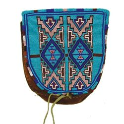 Plateau Beaded Pouch
