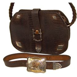Vintage Alligator Bag & Belt