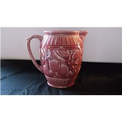 vintage pink Weller Zona pottery pitcher
