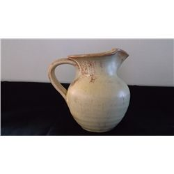 vintage off white Cole North Carolina pottery jug