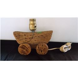 Vintage cholla cactus wagon table lamp