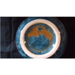blue, white, and ochre glazes crystalline art