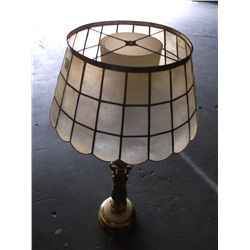 Rembrandt brass table lamp with marble base