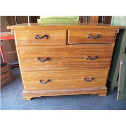 Cowboy Up! Vintage A. Brandt Ranch Oak Chest of Drawers with Classic Horseshoe Pulls