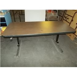 Adjustable Height Serving Table