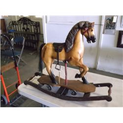 Hand Carved, Hand Painted  Rocking horse