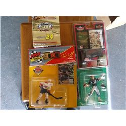 Box of Misc. sports collectibles