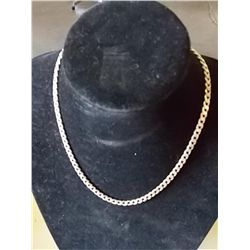 "Curve Link /chain Necklace 22.5 Grams 18"" long"