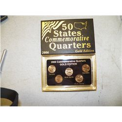 2006 Commemorative Quarers Gold Edition