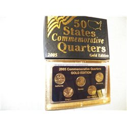 2005 Commemorative Quarters Gold Edition