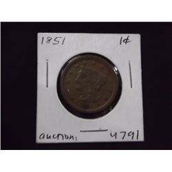 1851 Large penny