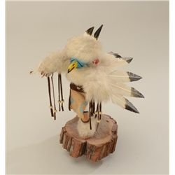 "Nicely made Kachina on wood base of Eagle  dancer, approx. 12"" in height and in overall  very good c"