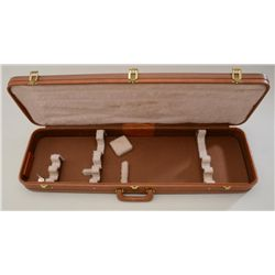 "Browning hard case for 34"" shotgun two barrel  set, 36.25"" x 10.75"" overall, light brown  vinyl with"