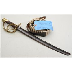 "Lot of two items including an cutdown  authentic N.P. Ames cavalry sword to an  approx. 18"" blade in"