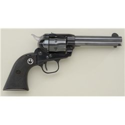 "Ruger Single Six Model single action  revolver, .22 cal., 4-1/2"" barrel, black  finish, checkered bl"
