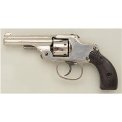 "Antique hammerless DA revolver by Maltby  Henley & Co., .32 cal., 3-1/4"" barrel, nickel  finish, che"