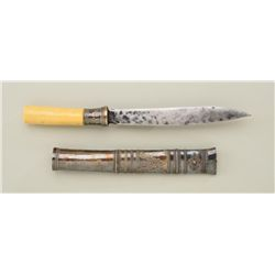 Exceptional S.E. Asian dagger of Chiefian's  quality circa late 19th to early 20th century  with sil