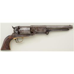 "Artificially-aged unmarked copy of a Colt  Walker percussion revolver, .44 cal., 9""  barrel, brown f"