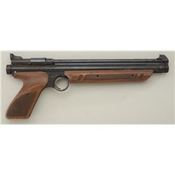 Crosman Model 1377 American Classic BB pump  action pistol, .177 caliber with black finish  and faux