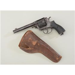 "Large frame Belgian antique DA revolver  marked ""Frontier Army"" on the top strap, .44  Winchester ca"