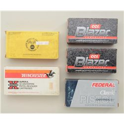 Five boxes of 10mm auto ammunition by CCI,  Federal, Winchester and UMC.  Est.:   $50-$100.