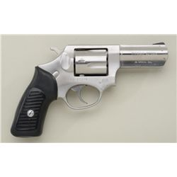"Ruger Model SP101 DA revolver, .38 Special,  3"" barrel, stainless steel, hard rubber  grips, #570-37"
