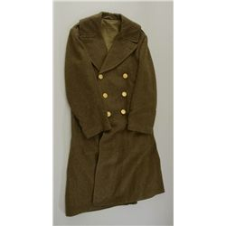 U.S. enlisted mans overcoat WW II era, near  fine condition with gold plated eagle  buttons.  Circa