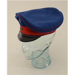 German WW 1 Era Officers Visor cap, blue body  with red trim.  Good condition, normal aging  wear cr