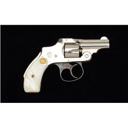 "Smith & Wesson .32 Safety Hammerless DA  revolver, .32 cal., 2"" barrel, nickel finish,  gold medalli"