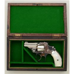 "Smith & Wesson .32 Safety Hammerless  ""Bicycle"" Model DA revolver, .32 cal., 2""  barrel, nickel fini"