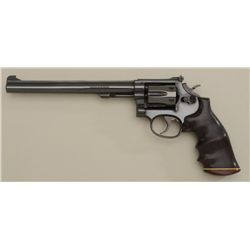 "Smith & Wesson Model 48-4 DA revolver, .22  M.R.F. cal., 8-3/8"" barrel, blue finish,  custom wood fi"