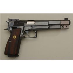 "Customized and upgraded Belgian-made FN  Browning semi-auto pistol, 9mm cal., 6""  barrel including a"