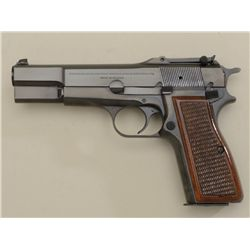 Browning Hi-Power semi-auto pistol with  tangent sights, extra magazine and Browning  soft boot; Bel