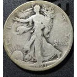 1921-S STANDING LIBERTY SILVER HALF DOLLAR