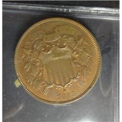 1868 TWO CENT SHIELD BU-64RB